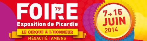 La 75 me foire exposition de picardie fait son cirque for Amiens foire expo