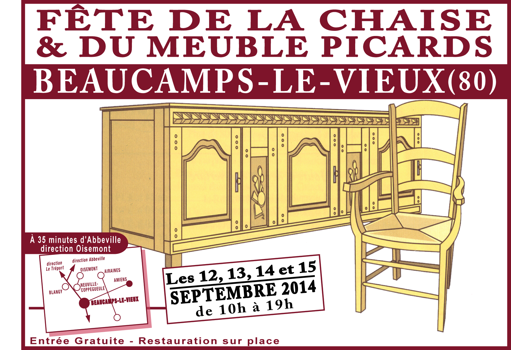 Fete de la chaise beaucamp le vieux 2016 conception for La grange du meuble