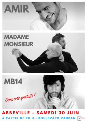 CONCERTS : AMIR, MADAME MONSIEUR, MB14