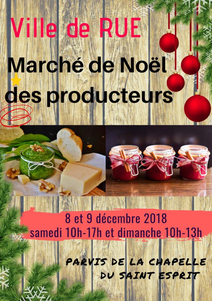08 12 Rue Marché de Noël des producteurs 2018_Ville de RUE