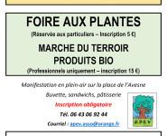 FOIRE AUX PLANTES ET MARCHÉ DU TERROIR