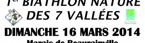 1er Biathlon Nature des 7 Vallées.