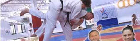 Stage de judo avec les champions Cyrille Maret et Marine Richard