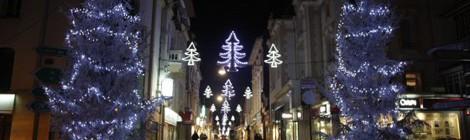 Lancement des illuminations de Noël.