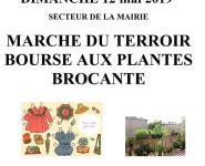 BROCANTE, MARCHÉ DU TERROIR & BOURSE AUX PLANTES