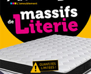 ARRIVAGES MASSIFS DE LITERIE