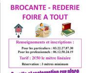 BROCANTE RÉDERIE FOIRE À TOUT