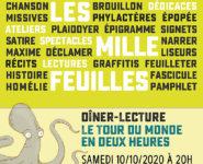 LES MILLE-FEUILLES 2020 : DINER-LECTURE