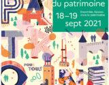 JOURNÉES DU PATRIMOINE 18-19 SEPTEMBRE 2021
